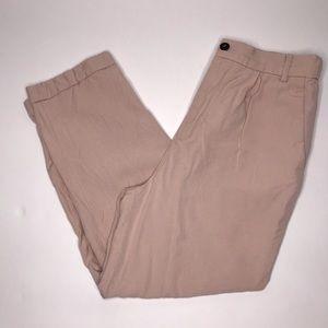 Zara paperbag cropped slacks